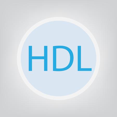 HDL (High-density lipoprotein) acronym- vector illustration