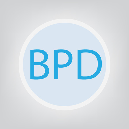 BPD (Borderline Personality Disorder) acronym- vector illustration