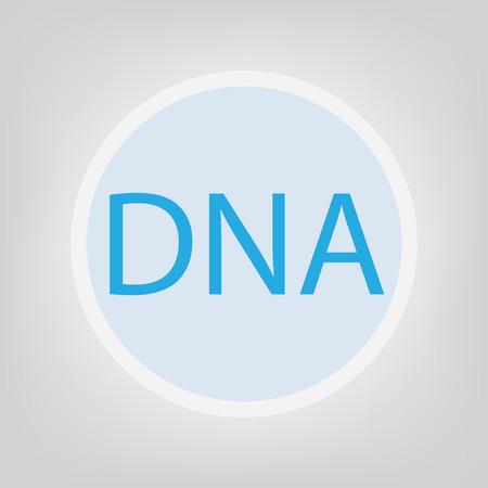 DNA (Deoxyribonucleic Acid) acronym- vector illustration