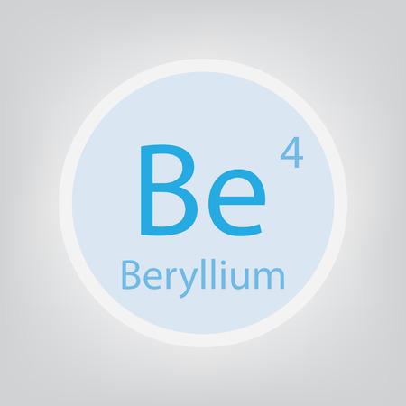 Beryllium Be chemical element icon- vector illustration Ilustração