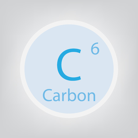Carbon C chemical element icon- vector illustration