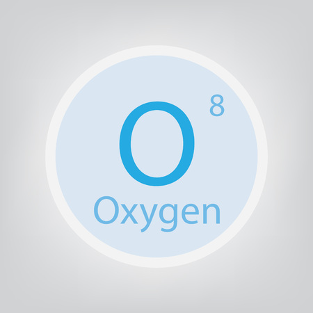 Oxygen O chemical element icon- vector illustration