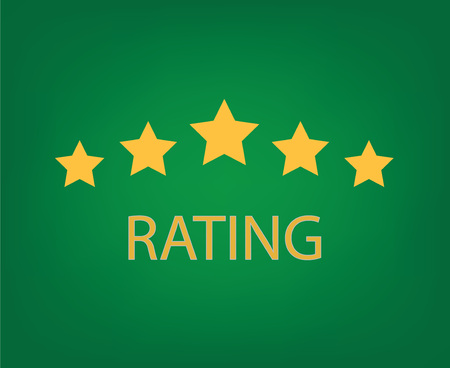 five star ratingconcept- vector illustration