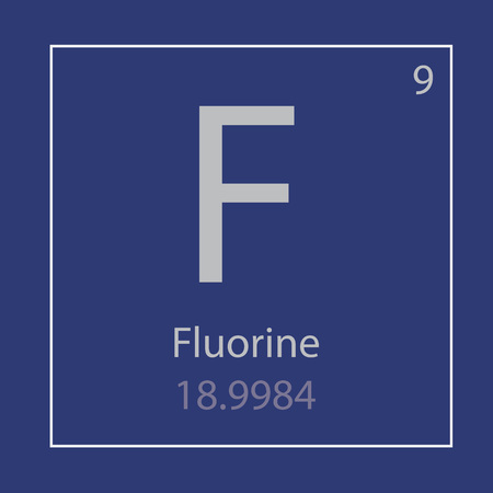 Fluorine chemical element icon vector illustration