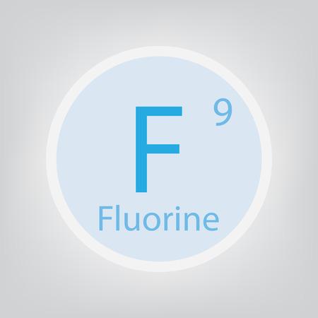 Fluorine F chemical element icon vector illustration. 일러스트