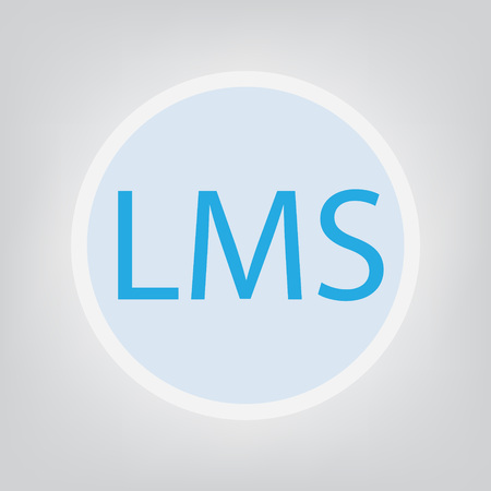 LMS (Learning Management System) acronym- vector illustration. Ilustracja