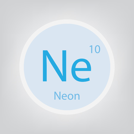 Neon Ne chemical element icon- vector illustration