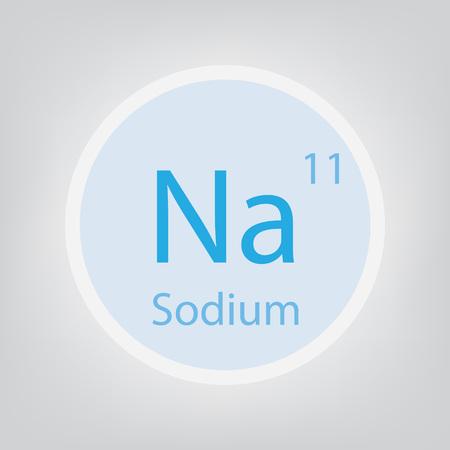 Sodium Na chemical element icon- vector illustration