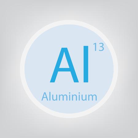 An aluminum Al chemical element icon vector illustration Ilustração