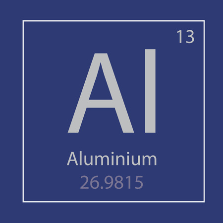 An aluminum Al chemical element icon vector illustration 일러스트