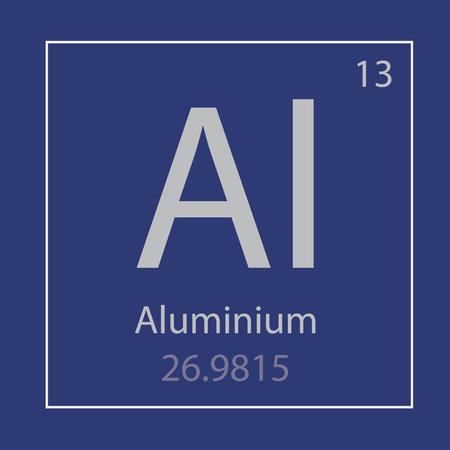 An aluminum Al chemical element icon vector illustration Stock Illustratie