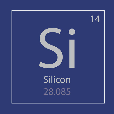 Silicon Si chemical element icon vector illustration