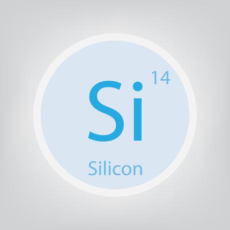 Silikon Si chemisches Element Symbol Vektor-Illustration