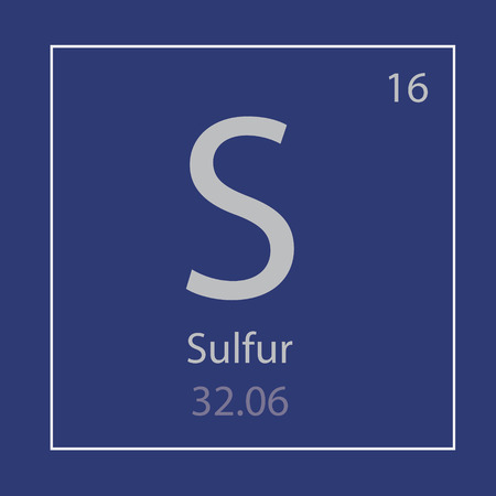 Sulfur, S chemical element icon vector illustration