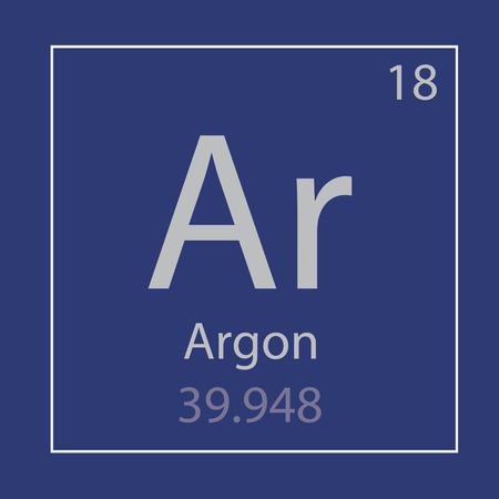 Argon Ar chemical element icon- vector illustration