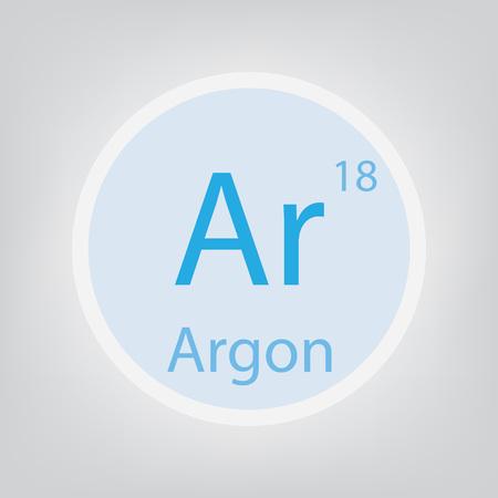 Argon Ar chemical element icon- vector illustration