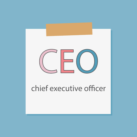 Chief Executive Officer written in notebook paper- vector illustration