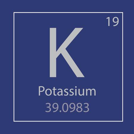 Potassium chemical element icon