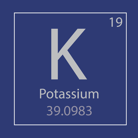 Potassium chemical element icon