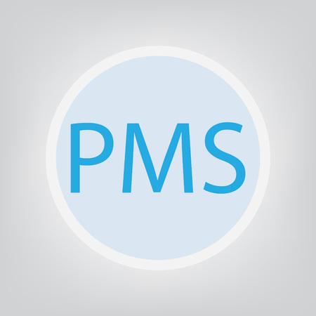 PMS (Premenstrual Syndrome) concept- vector illustration Illustration