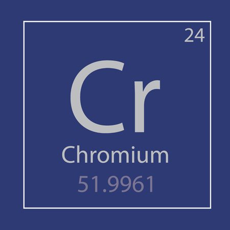Chromium Cr chemical element icon vector illustration 일러스트