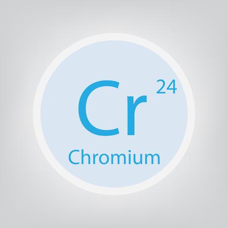 Chromium Cr chemical element icon vector illustration 일러스트