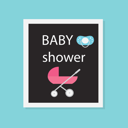 baby shower concept- vector illustration Ilustracja