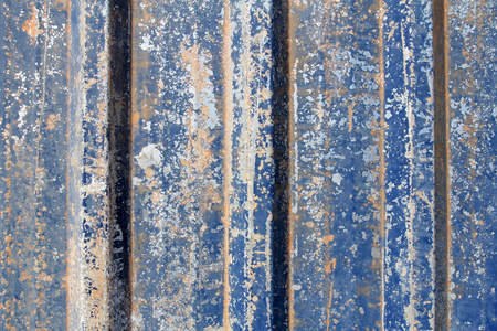 blue rusty metal sheet background