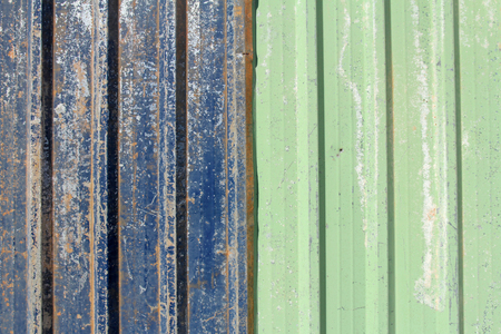 green and blue rusty metal sheet background