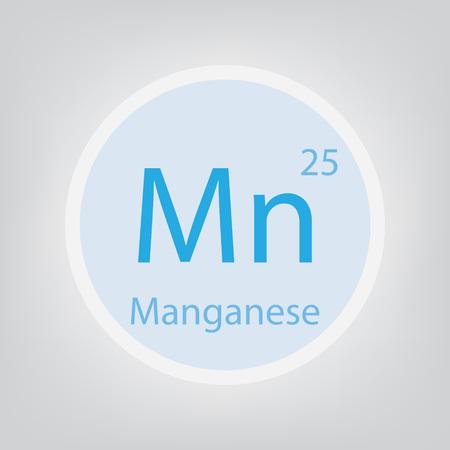 Manganese Me chemical element icon- vector illustration