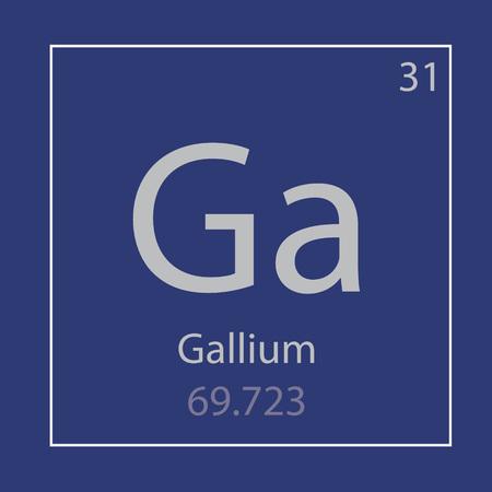 Gallium Ga chemical element icon- vector illustration