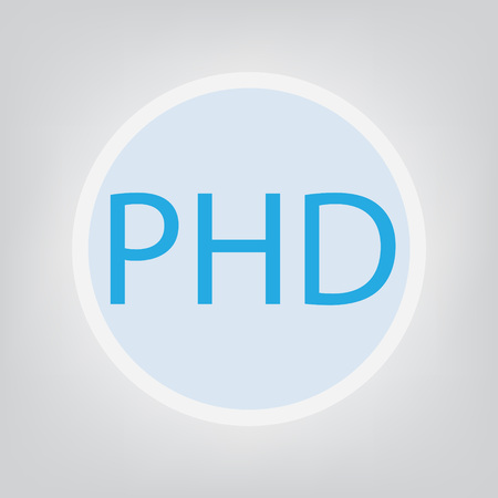 PHD (Doctor of Philosophy) concept- vector illustration