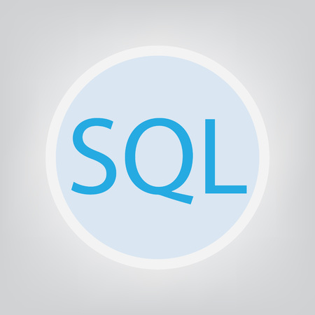 SQL (Structured Query Language) concept- vector illustration