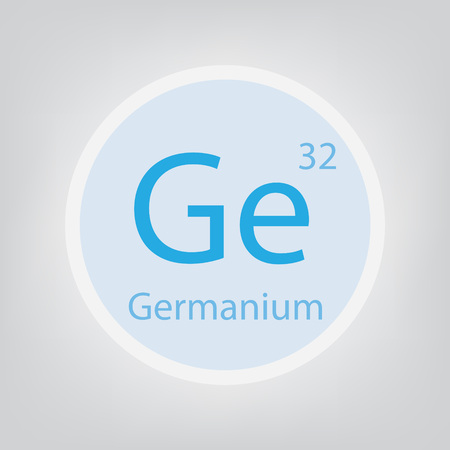 Germanium Ge chemical element icon- vector illustration 일러스트