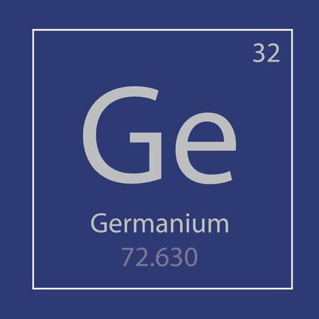 Germanium Ge chemical element icon- vector illustration Ilustração