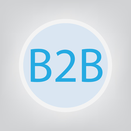 B2B (Business To Business) concept- vector illustration