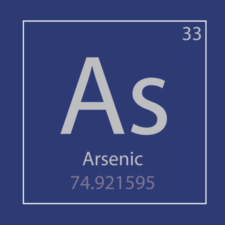 Arsenic As chemical element icon- vector illustration
