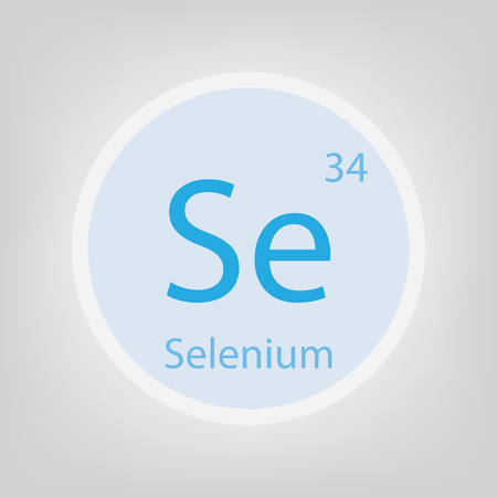 Selenium Se chemical element icon- vector illustration