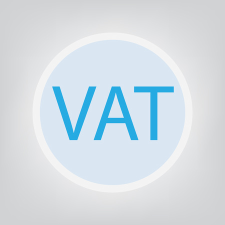VAT (Value Added Tax) concept- vector illustration Illustration
