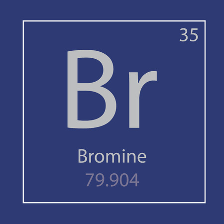 Bromine Br chemical element icon- vector illustration