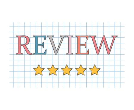 Plantilla de concepto de revisión de cliente Ilustración de vector