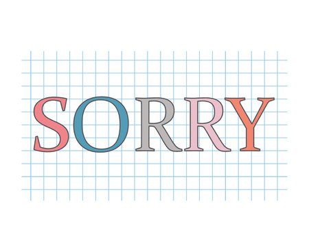 sorry concept- vector illustration
