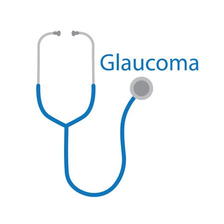 Glaucoma word and stethoscope icon. Zdjęcie Seryjne - 101007228