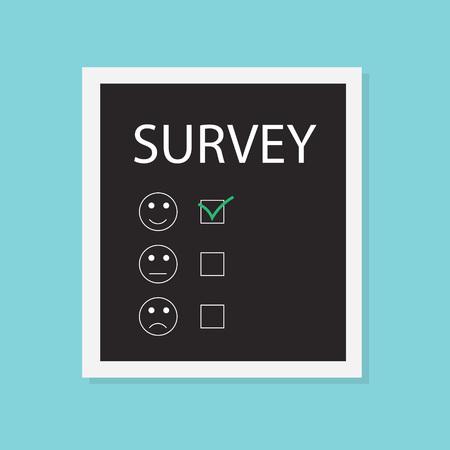survey concept- vector illustration