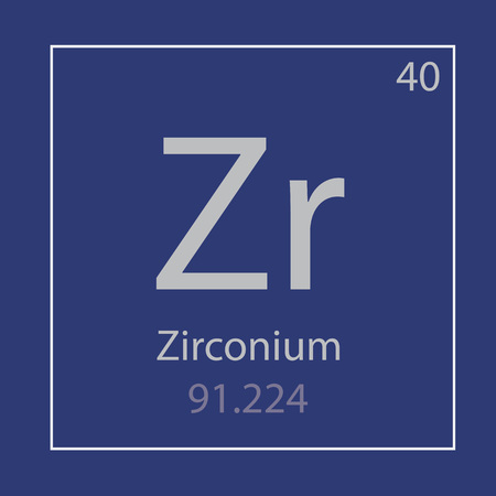 Zirconium Zr chemical element icon- vector illustration