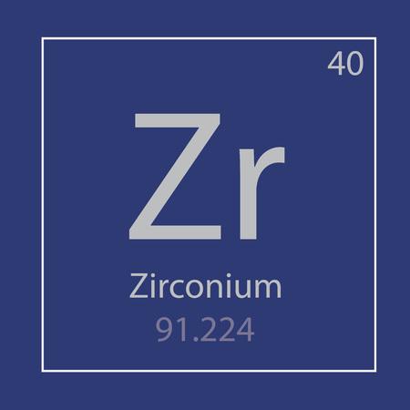 Zirconium Zr chemical element icon- vector illustration Banco de Imagens - 101043170