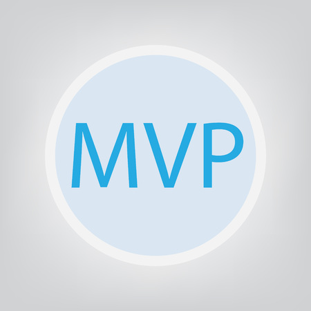 MVP (minimum viable product) concept- vector illustration Illustration