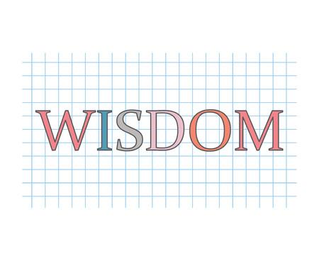wisdom concept- vector illustration