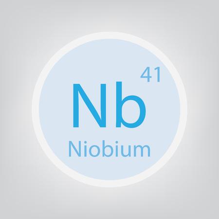 Niobium Nb chemical element icon- vector illustration
