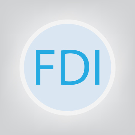 FDI (Foreign Direct Investment) concept- vector illustration